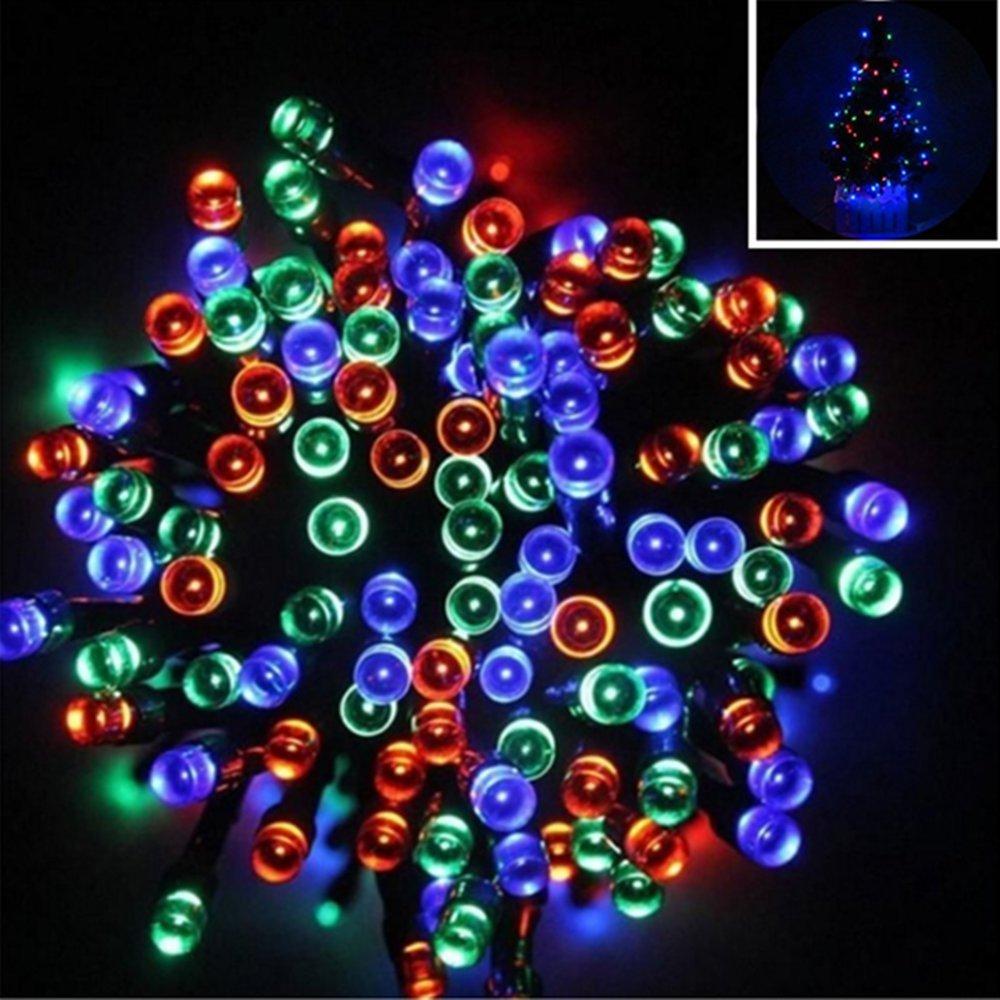 Williamtai 200LED Solar Power LED String Fairy Lights Waterproof Solar Powered Party Xmas Outdoor Garden Tree Decor Lamp Ni-MH battery1.2V/1000mAh Battery (Multicolor)