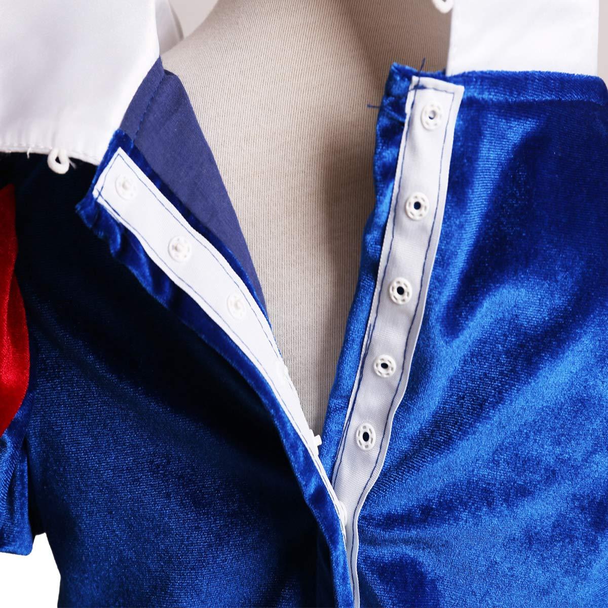 OBEEII Disfraz Blancanieves Ni/ña Vestido de Princesa Carnaval Traje 3PCS Disfraces de Halloween Navidad Cumplea/ños Pageant 3-8A/ños