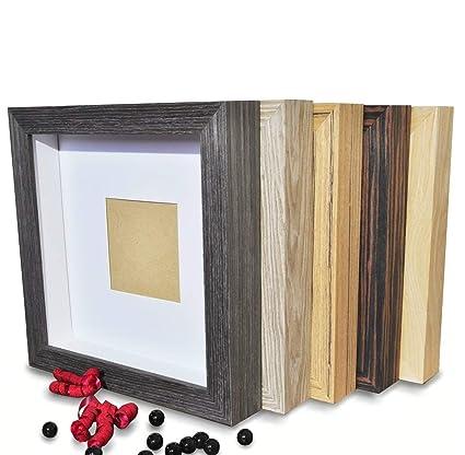 D\'Eligance tiefer 3D BILDERRAHMEN zum befüllen   *SCHÖNERE Geschenke und  Wände*   5 Farben   Holz/Glas     29x29x4,6Cm Objektbilderrahmen   Garantie    ...
