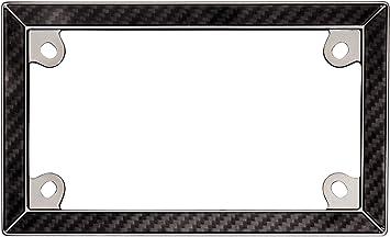 cruiser accessories 77198 black chrome mc carbon fiber ii license plate frame