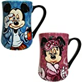 Disney Parks Exclusive Mickey Some Mornings Are Rough & Minnie Mouse Mornings Aren't Pretty 2 Pc. Mug Set