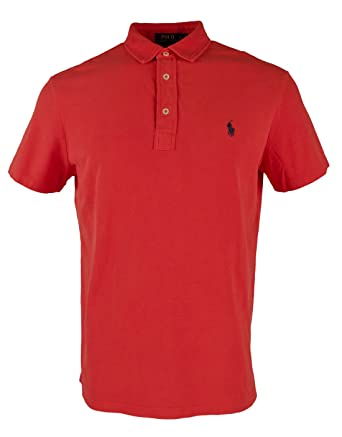 Polo Ralph Lauren Men\u0027s Featherweight Mesh Short Sleeves Shirt-R-S at  Amazon Men\u0027s Clothing store: