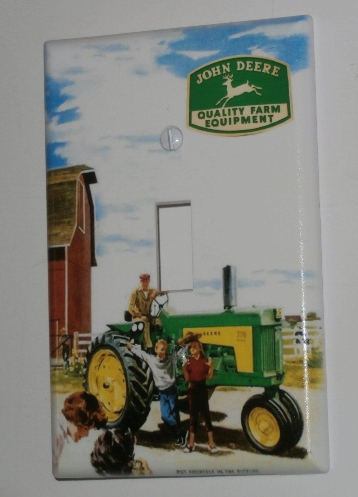 JOHN DEERE Tractor Single Toggle Light Switch Plate Cover