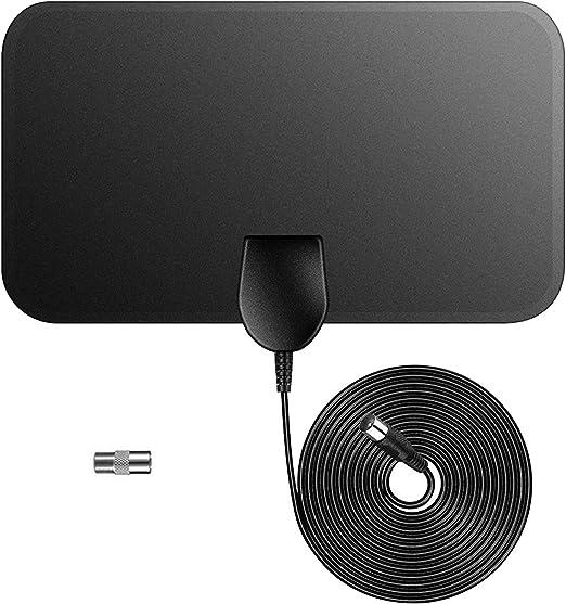 WFGZQ Antena de TV para Interiores, Antena de Radio 80MP 4K 1080P ...