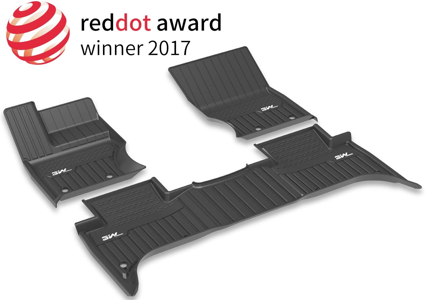 3W Floor Mats for Range Rover Sport (2014-2019) - Car Mats with Non-Toxic Odorless TPE All Weather Heavy Duty Custom Fit Floor Mats Liner (not for Range/Land Rover Discovery Sport), Black