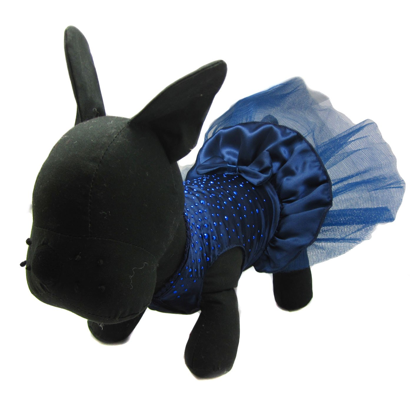 Alfie Pet by Petoga Couture - Shirley Tutu Party Dress - Color: Navy, Size: Small