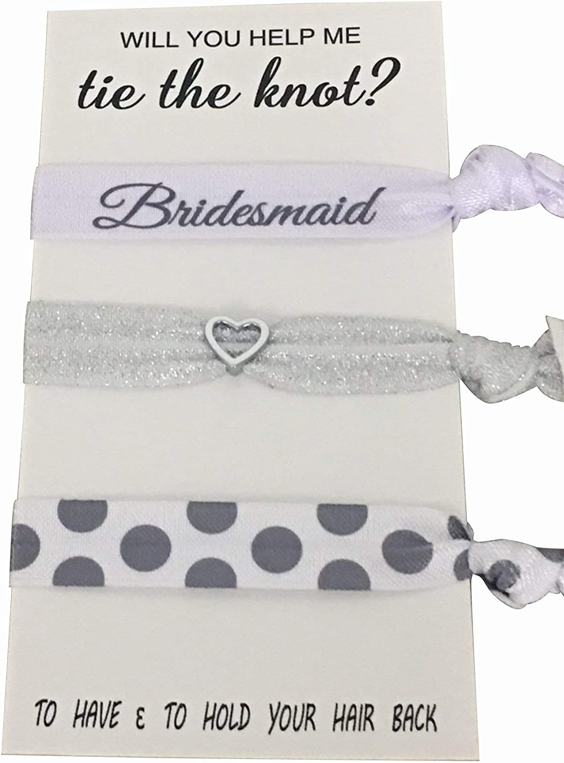 Amazon Com Bridesmaid Gifts Bridesmaid Hair Ties Bridesmaid Jewelry Accessory Makes The Perfect Gift For Bridesmaids Arts Crafts Sewing