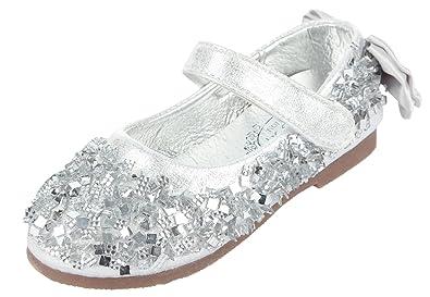 Eozy Kinder Ballerina Mädchen Glitzer Festliche Schuhe Kinderschuh Silber  26 Innerlänge 15.8cm b3fcf15053
