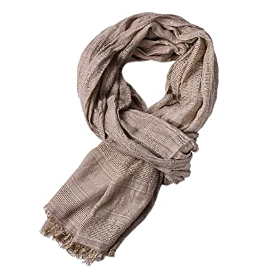 Yateen Men Soft Lightweight Scarves Warm Crinkle Scarf at Amazon Men's Clothing store