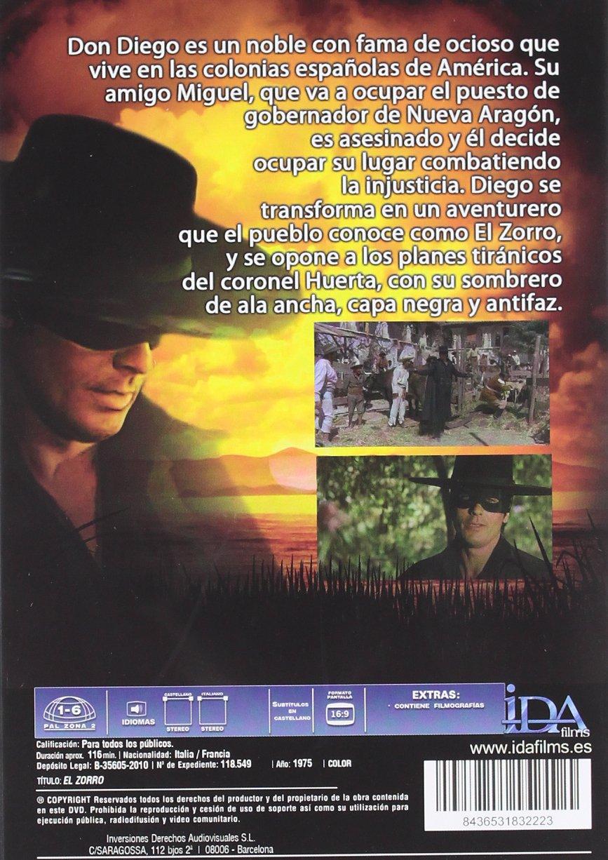 El Zorro [DVD]: Amazon.es: Alain Delon, Stanley Baker, Ottavia Piccolo, Enzo Cerusico, Giampiero Albertini, Adriana Asti, Duccio Tessari, Luciano Martino: ...