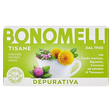 cardo mariano tisana  Bonomelli Tisana Depurativa con Ortica, Cardo Mariano, Curcuma ed ...