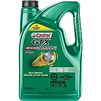 Castrol 03102 GTX High Mileage 5W-30 Synthetic Blend Motor Oil 5 Quart