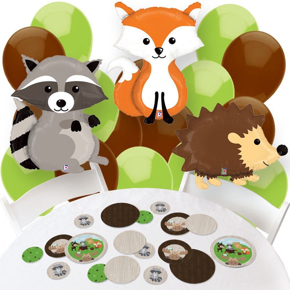 Amazon.com: Woodland Creatures   Confetti And Balloon Baby Shower Or  Birthday Party Decorations   Combo Kit: Toys U0026 Games