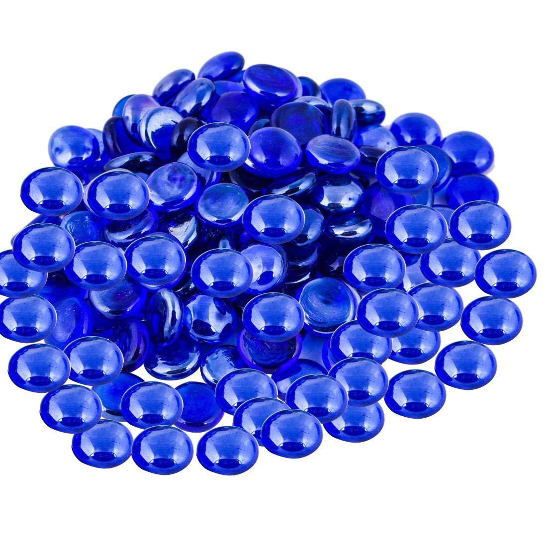 ARSUK Galets de Verre pour Aquarium et de D/écoration de Bleu Couleur 500/Gm
