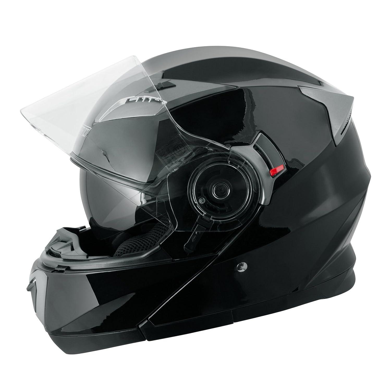 Casco Modulare Apribile Moto Touring Sport Visiera Parasole Nero XL