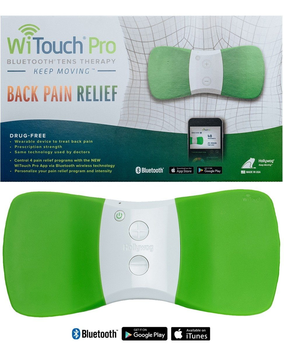 WiTouch Pro Wireless Bluetooth TENS - Includes 6 Gel Pads (3 Pairs of Gel Pads)