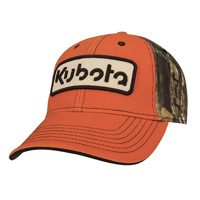 Amazon.com  Kubota Orange Front w Camo Back Cap  Clothing d0e5649465c