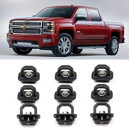 AEagle Tie Down Anchors Retractable Truck Bed Side Wall D Ring for 2015-2018 Chevrolet Colorado /& GMC Canyon 2007-2018 Chevrolet Silverado 1500 2500HD 3500HD /& GMC Sierra 1500 2500HD 3500HD 9 Pcs