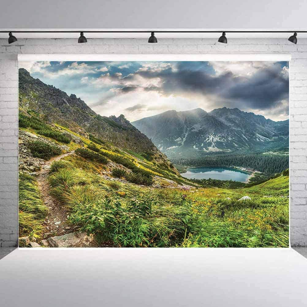 6x6FT Vinyl Wall Photography Backdrop,Mountain,Magical Sport on Earth Background for Baby Birthday Party Wedding Graduation Home Decoration