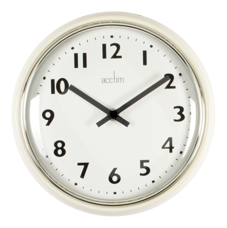 Acctim 27052 delia metal wall clock cream amazon kitchen acctim 27052 delia metal wall clock cream amazon kitchen home amipublicfo Choice Image