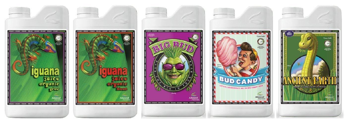 Advanced Nutrients Organic OIM Bundle Package (Iguana Juice Grow & Bloom, Bud Candy Organic, Big Bud Organic & Ancient Earth) (4 Liter Bundle)
