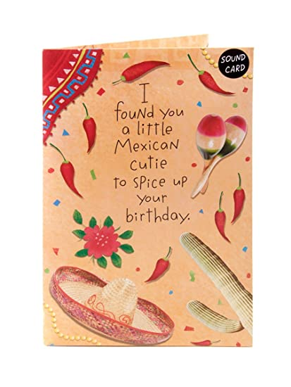Amazon mexican cutie pop up amp light up birthday greeting mexican cutie pop up amp light up birthday greeting sound card anyone new m4hsunfo
