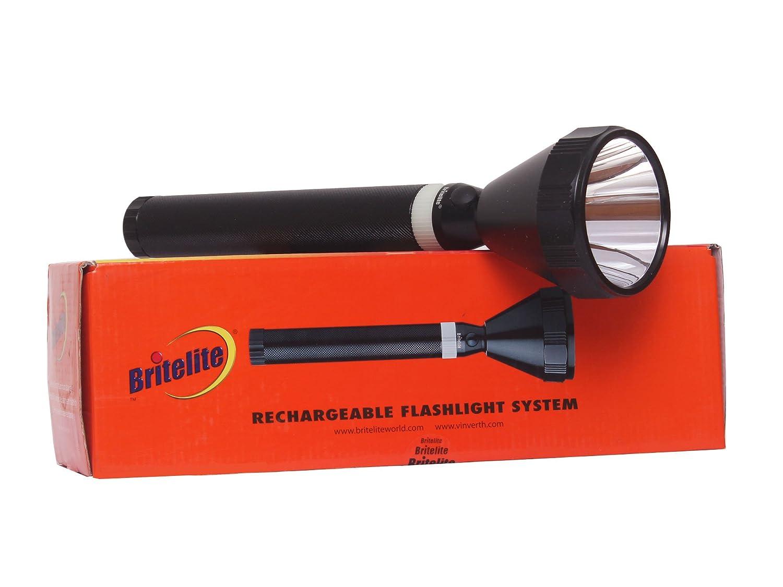 Britelite Long Range Led Rechargable Torchlight 2700 Meter Amazon How To Make A Flashlight Bulb 8211 For 2 15 Volt Batterie Sports Fitness Outdoors