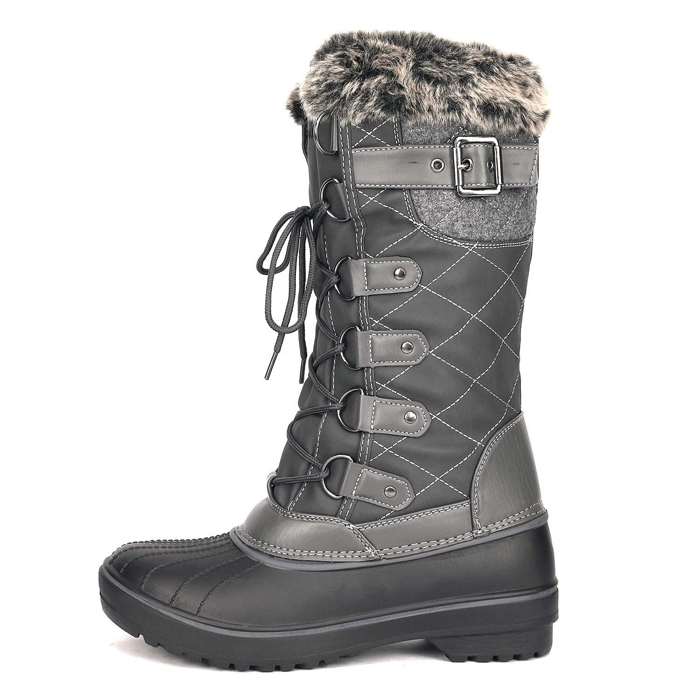 66fd24d6b56aa Amazon.com   DREAM PAIRS Women's DP Warm Faux Fur Lined Mid Calf Winter  Snow Boots   Mid-Calf