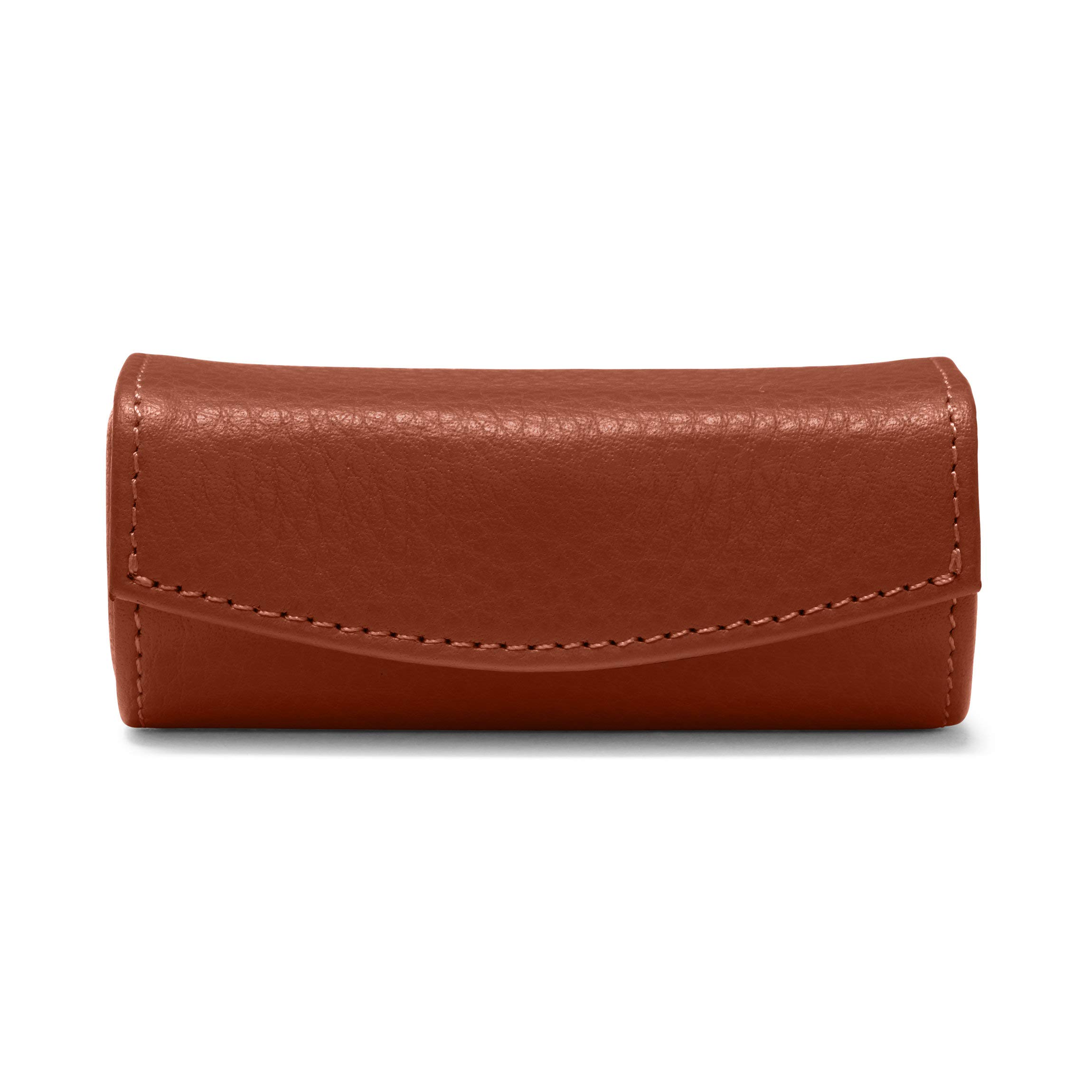 Lipstick Case - Full Grain Leather Leather - Terracotta (Orange)