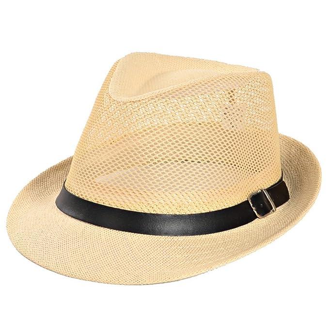 Roffatide Uomo Mesh Cappello Estivo Cappelli di Paglia All aperto  Protezione UV Cappelli da Spiaggia f766c9ab8b18