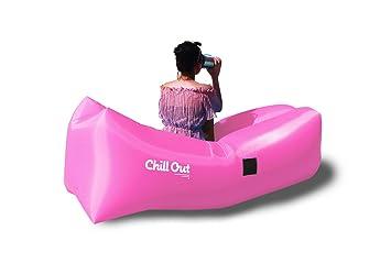 Chaise Longue Leer : Chill out gonflable chaise longue léger résistant à l eau sac