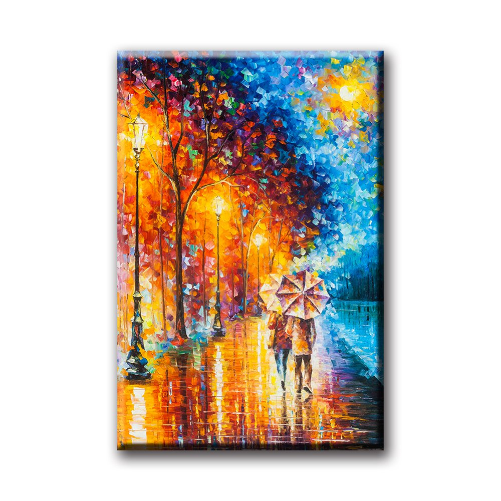 Love by the Lake by Leonid Afremov Oil Painting On Canvas Modern Artwork Ready to Hang