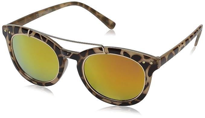48d30edcda62 Amazon.com: Steve Madden Women's Shannon Browbar Square Sunglasses ...