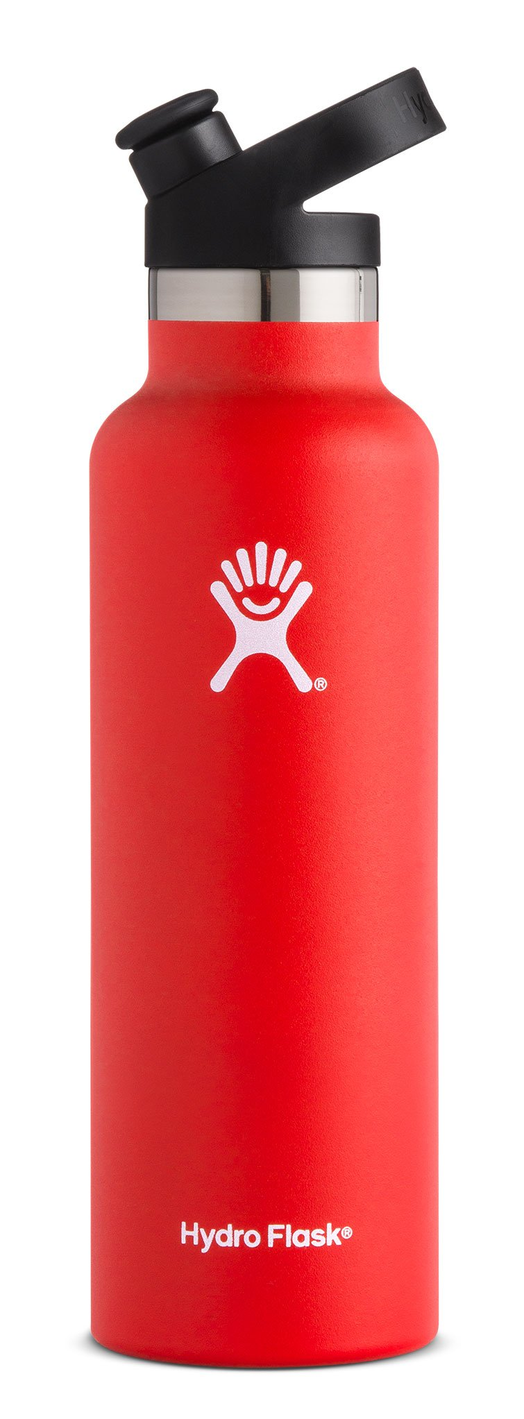 Hydro Flask 21 oz Double Wall Vacuum Insulated Stainless Steel Sports Water Bottle, Standard Mouth with BPA Free Sport Cap, Lava