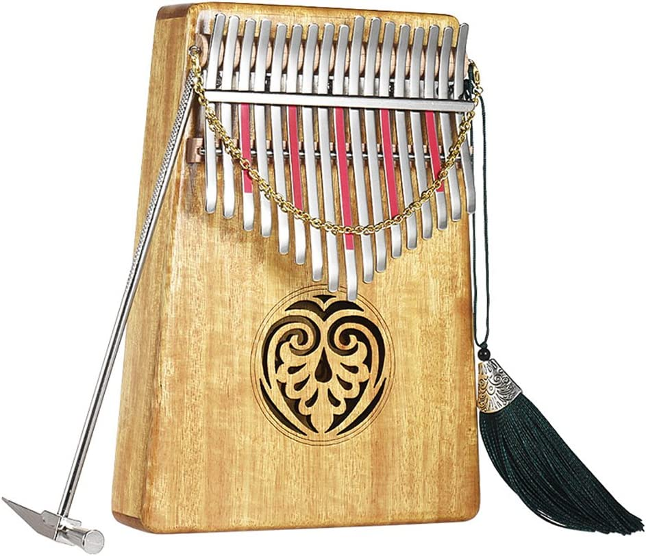 for Gifts with basic course Tune Hammer Natural Wood for Adult Kids Beginners Kalimba 17 Keys Thumb Piano