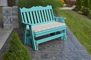 product image for Outdoor Poly 5 Foot Royal English Glider - Aruba Blue