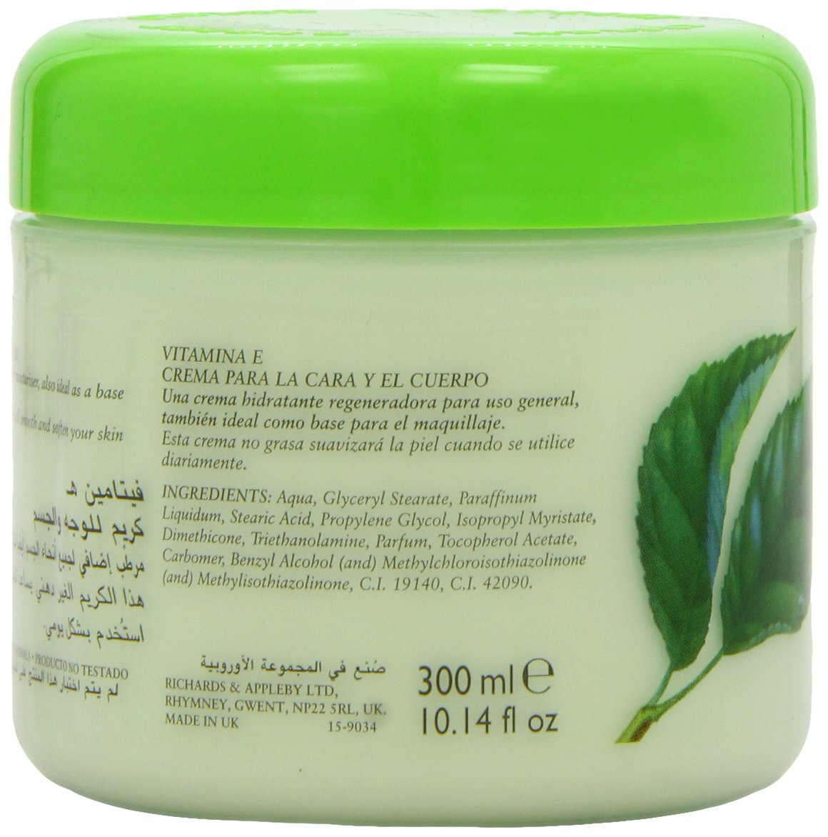Cyclax Naturaleza Pura vitamina E Face & Body Cream 300ml: Amazon.es: Belleza