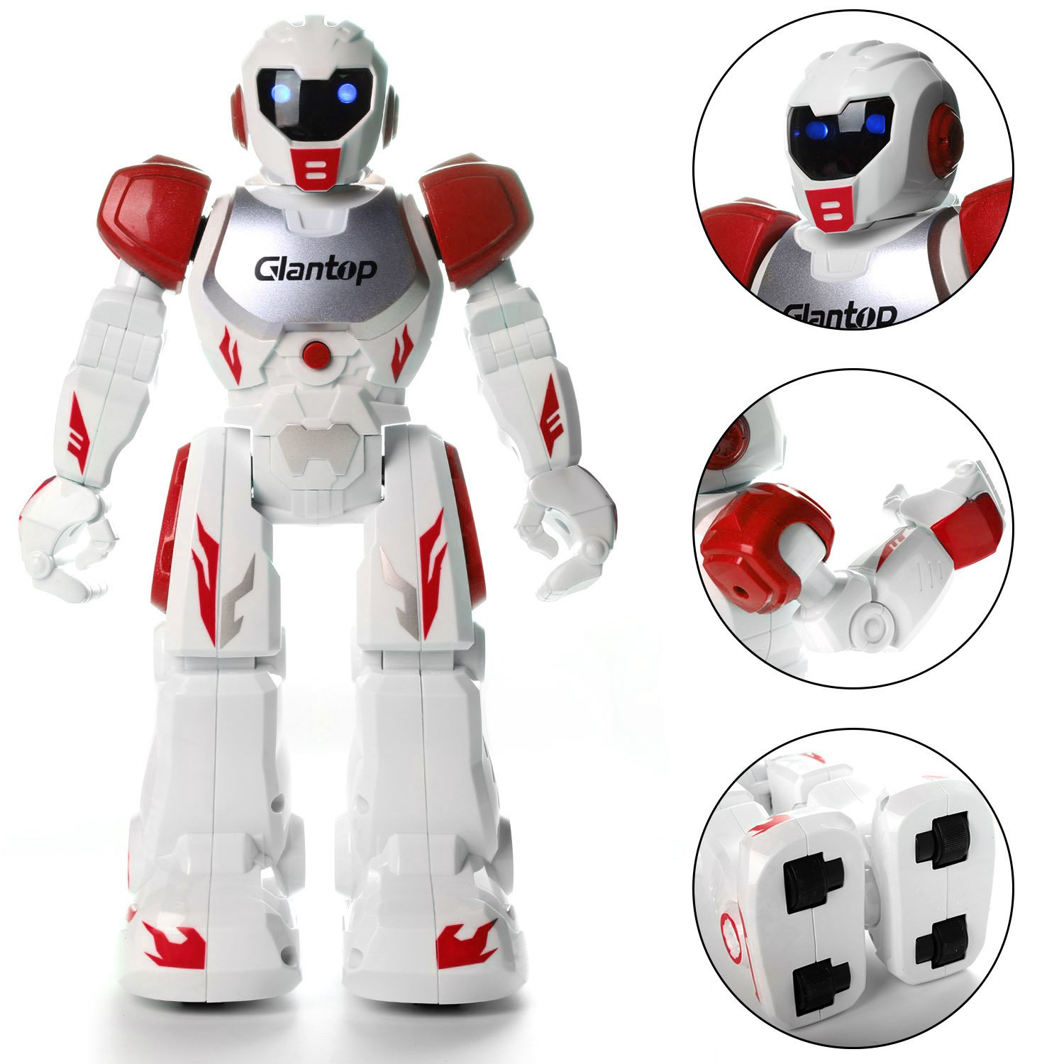Glantop Remote Control RC Robots Interactive Walking Singing Dancing Smart Programmable Robotics for Kids Boys Girls (Red) by Glantop (Image #3)