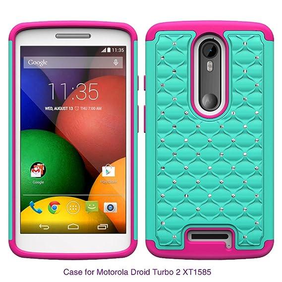 Motorola Droid Turbo 2 Case, Moto X Force, Kinzie Bounce Case - Hybrid Diamond