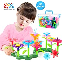 ToyVelt Flower Garden Building Toys for Girls - (148 pcs) Floral Arrangement playset...
