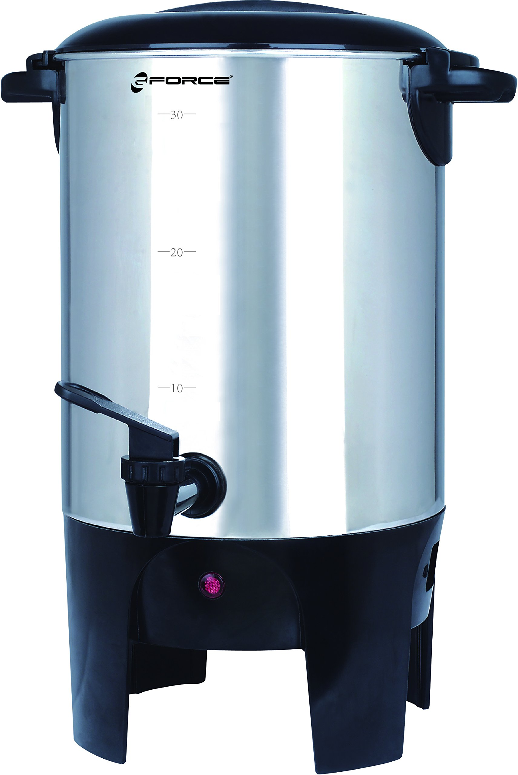 GForce GF-P1021-990 Luxury 40-Cup Coffeemaker and Hot Water Urn, Stainless Steel Silver