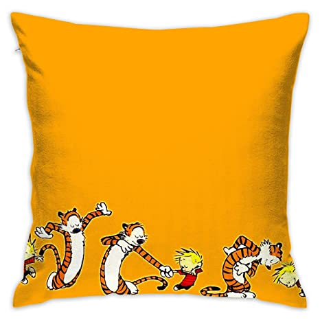 Amazon.com: Love Taste Calvin and Hobbes Throw Pillow ...