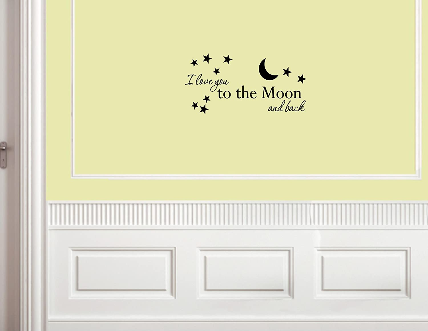 amazon com i love you to the moon and back vinyl wall decals amazon com i love you to the moon and back vinyl wall decals quotes sayings home decor home kitchen