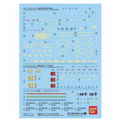Bandai Model Kit 21293 – 57373 Decal 113 – Gundam Origin Multi 2: Toys & Games