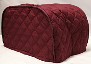 Simple Home Inspirations Solid Quilted Cover Compatible with the Ninja Foodi Grill (Burgundy)