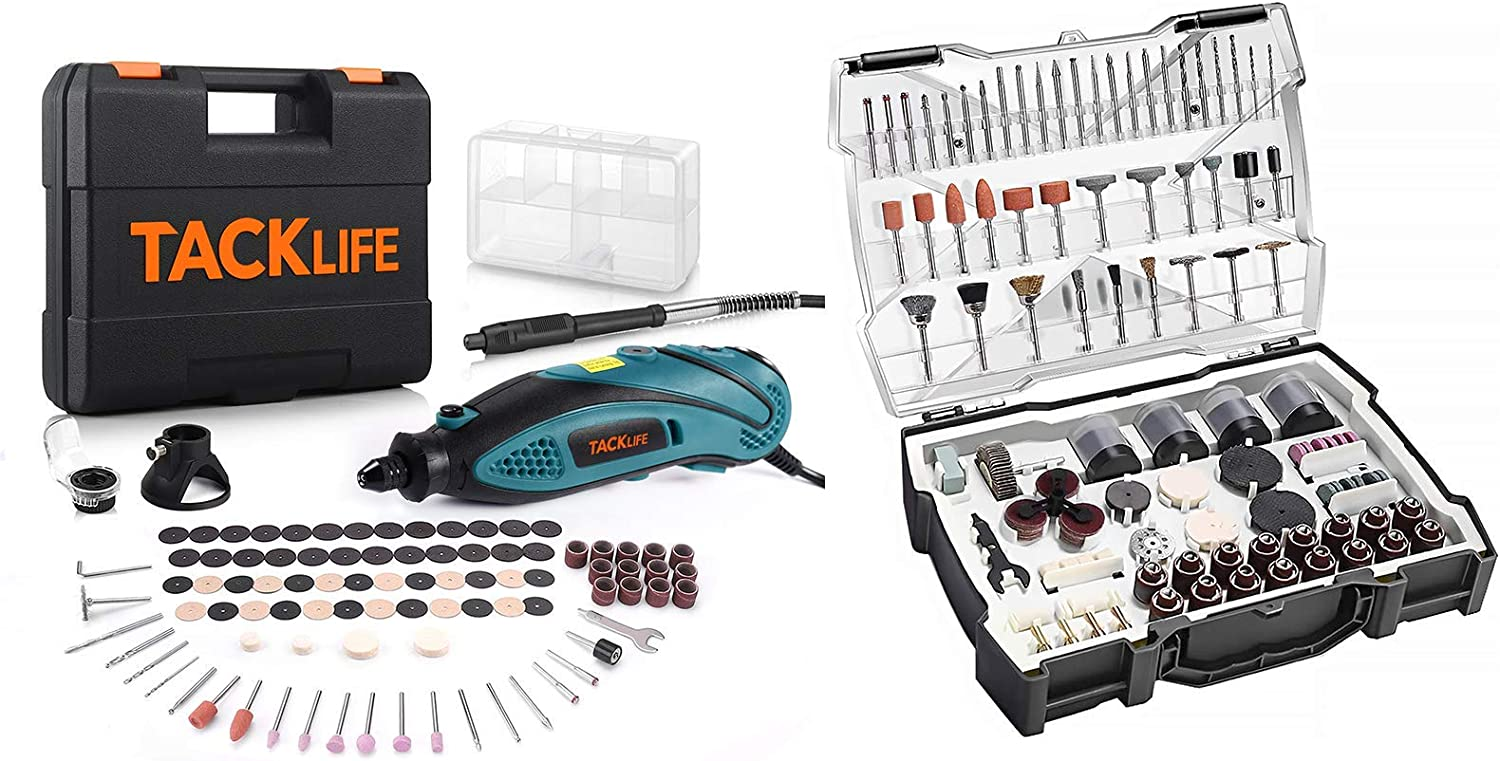 TACKLIFE Accessories Kit ARTO2C and Rotary Tool Kit RTD35ACL Lake Blue