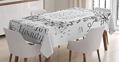 Amazoncom Ambesonne Occult Decor Tablecloth Gothic Medieval Magic