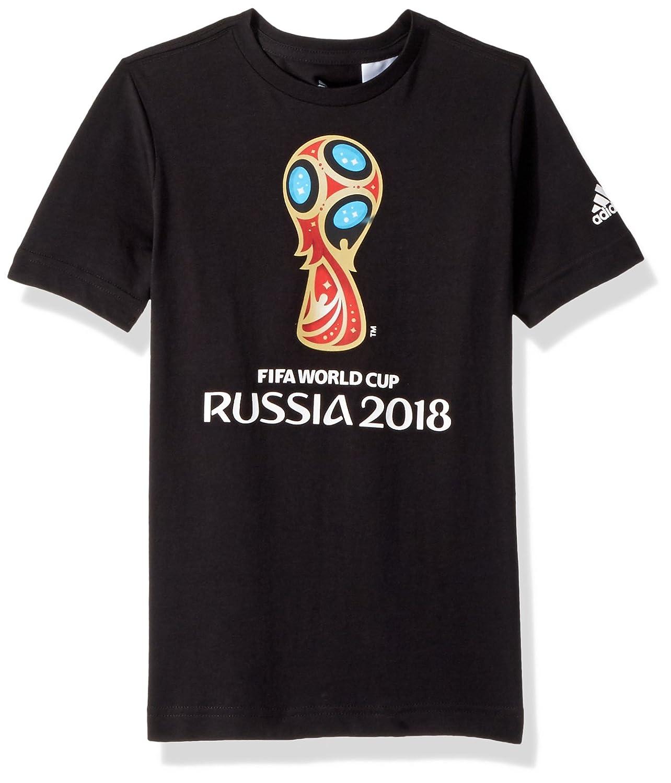 half off 785d2 82750 Amazon.com   adidas Boys Soccer World Cup Emblem Tee   Sports   Outdoors