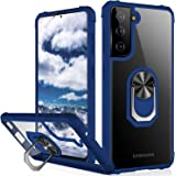 IKAZZ Galaxy S21 Plus Case,Samsung S21 Plus Cover Crystal Clear Anti-Yellow Shock Absorption Acrylic Protective Phone Case wi