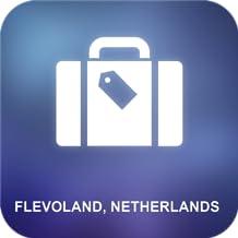 Flevoland, Holanda Offline Map